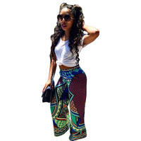 Multicolor African Vintage Hippie Pants