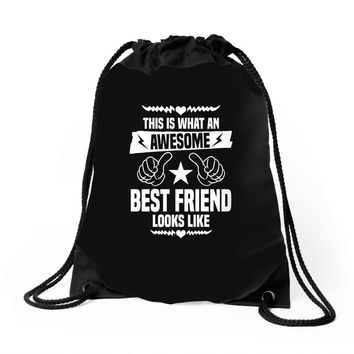 Awesome Best Friend Looks Like Drawstring Bags