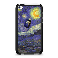 Van Gogh Tardis Doctor Who starry night art painting iPod Touch 4 | 4th Gen case