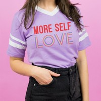 More Self Love Varsity Tee