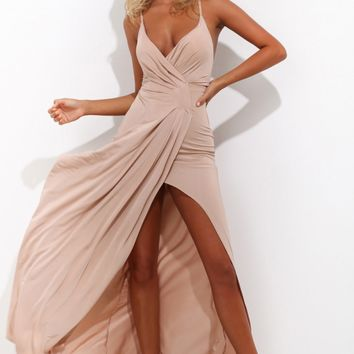 Love Somebody Maxi Dress Beige