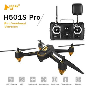 Original Hubsan H501S Pro X4 5.8G FPV Brushless Drone with 1080P HD Camera 10 Channel Remote Control GPS Professional Quadcopter