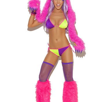 Rave Girl Sexy Multi-color top & bottom