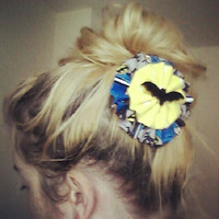 SALE Batman Flower Hair Clip