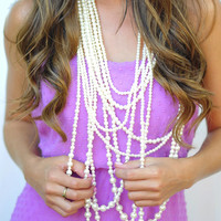 Draped In Pearls Necklace: Ivory | Hope's