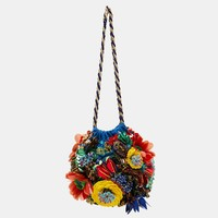 EMBROIDERED FLORAL HANDBAG DETAILS