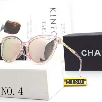 Chanel 2018 new female polarized mirror legs with diamond sunglasses NO.4