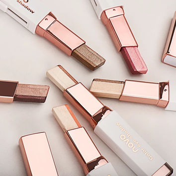 novo brand Double Color Naked eyeshadow stick 3D nude glitter Shimmer balm Eye Makeup Cream Pen Eye shadow Palette Cosmetics