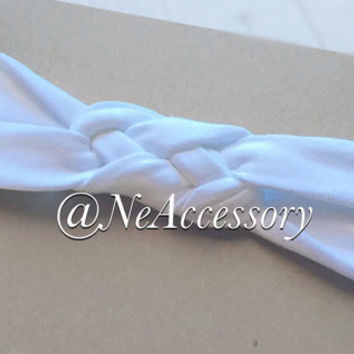 White Braided Headband, Turban Headband, Baby Turban, Sailor's Knot
