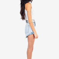 One Teaspoon Hawks High Waisted Shorts $116