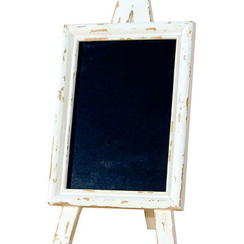 Distressed White Chalkboard Sign | zulily
