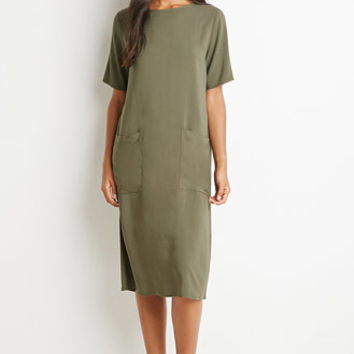 Two-Pocket Midi Dress