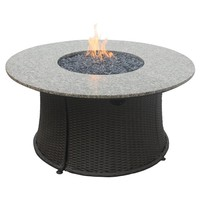 SheilaShrubs.com: LP Gas Outdoor Round Firebowl With Granite Mantle GAD1375SP by Blue Rhino: Fire Pits