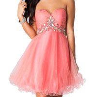 Women's Homecoming Dress Short Prom Dress Tulle D0366