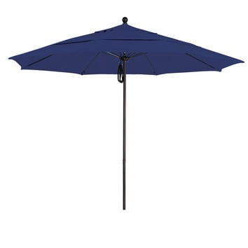 11 Foot Sunbrella 5A Fabric Aluminum Pulley Lift Patio Patio Umbrella with Bronze Pole