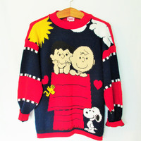 Vintage Peanuts Charlie Brown and Lucy Sweater