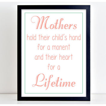 Mothers Love Lifetime - Motivate Word Art Print Kitchen Quote Motivation Wall Sign Letters Home Decor  PP12
