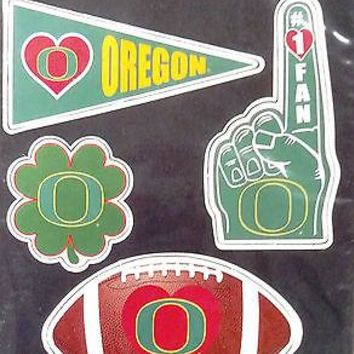 Oregon Ducks 4-Pack Team Magnet Sheet Auto Home Heavy Duty University of