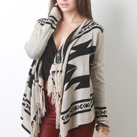 Fringe Tribal Knit Cardigan