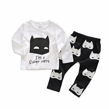 newborn little Kids boys clothes set Baby boy clothes fashion toddler baby clothing,toddler bebe set Age 0-2 year