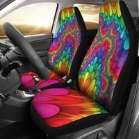 Abstract Color Design Seat Covers