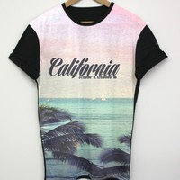 California Black All Over T Shirt