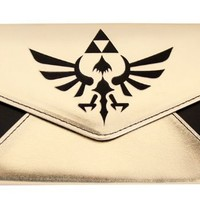 Nintendo Legend of Zelda Triforce Logo Gold & Black Envelope Wallet