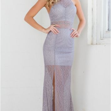 Imperial maxi dress in grey lace