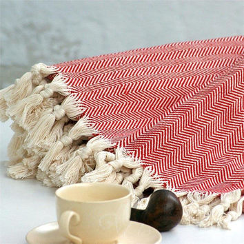 Handwoven blanket,Turkish throw,Sofa throws,Twin blanket,Woven bedspread,throw blanket,Traditional,Tassel,Turkish blanket,Woven blanket