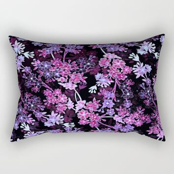 Pink & Purple Floral Pattern Rectangular Pillow by WhimsyRomance&Fun