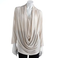 Jennifer Lopez Heathered Dolman Top