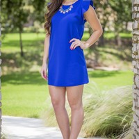 Instant Impressions Dress - Royal Blue | Dresses | Kiki LaRue