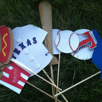 TEXAS RANGERS  photo booth props..... ask about other teams  prices differ..