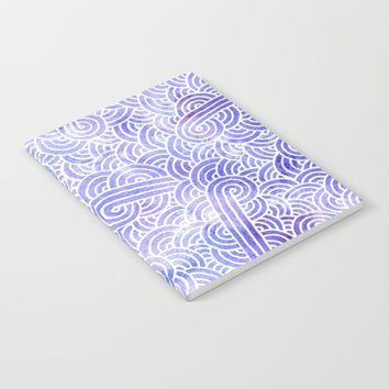 Lavender and white swirls doodles Notebook by Savousepate