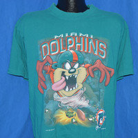 90s Miami Dolphins Taz Football t-shirt Large