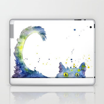 Colorful Cat Laptop & iPad Skin by MIKART