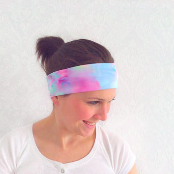 Tie Dye Pilates Headband, Workout Headband, Fitness Headband, Running Headband, Bohemian Headband, Fashion Accessory, Teen Gift Ideas