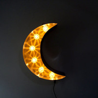 Industrial Marquee Moon Light Up Letter Symbol
