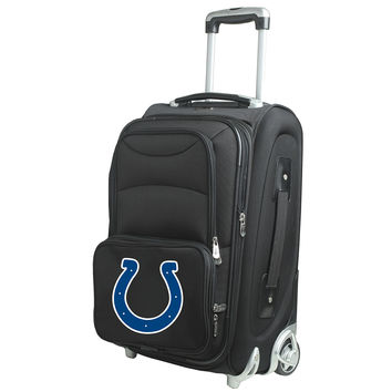 Indianapolis Colts  20'' Softsided Luggage Carry-on Rolling-Black