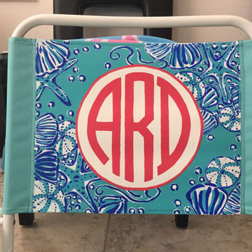 Hand Painted, Monogrammed Lilly P Beach Chair! You choose the print!