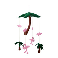 Pink Flamingo Mobile | Handcrafted Baby Crib Mobile