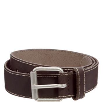ASOS Leather Belt with Edge Stitching - Brown