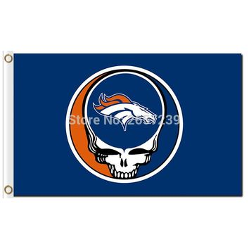Denver Broncos Stealing Your Face Flag 3x5FT NFL banner 100D 150X90CM Polyester brass grommets custom66,free shipping