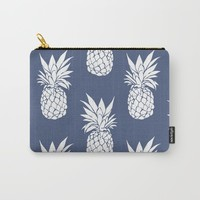 Pineapple Blues Carry-All Pouch by allisone
