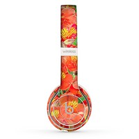 The Red and Yellow Watercolor Flowers Skin Set for the Beats by Dre Solo 2 Wireless Headphones