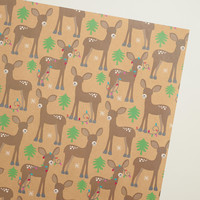Deer Kraft Wrapping Paper Roll - World Market