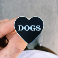 I Heart Dogs - Hard Enamel Lapel Pin