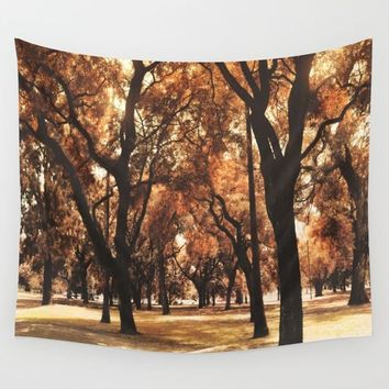 Through The Trees Wall Tapestry by Viviana Gonzalez