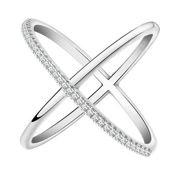 Infinity Ring with 36 Pieces Micro Paved CZ
