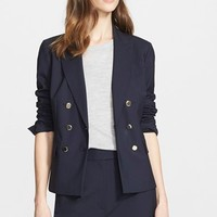 Women's Nordstrom Signature and Caroline Issa Double Breasted Wool Suiting Jacket